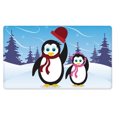 Fridge Magnet Rectangle - Penquin